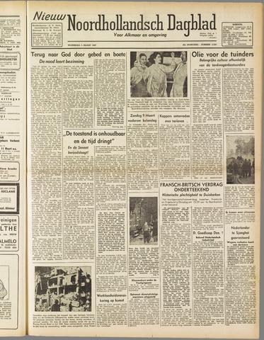 Nieuw Noordhollandsch Dagblad : voor Alkmaar en omgeving 1947-03-05