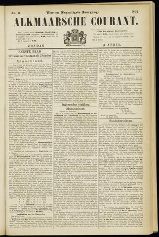 Alkmaarsche Courant 1892-04-03