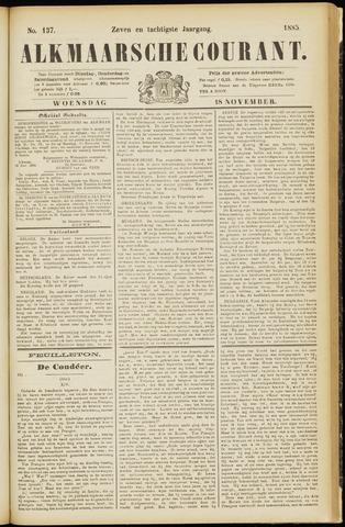 Alkmaarsche Courant 1885-11-18