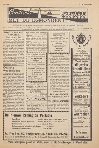 Contact met de Egmonden 1961-10-05