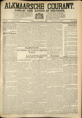 Alkmaarsche Courant 1933-09-16