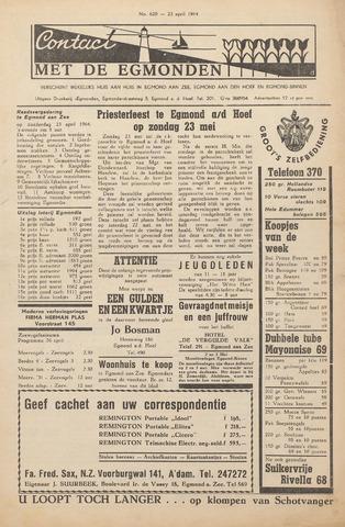 Contact met de Egmonden 1964-04-23
