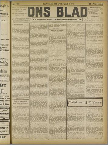 Ons Blad : katholiek nieuwsblad voor N-H 1917-02-24