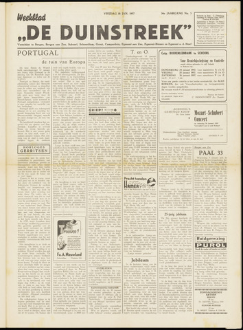 De Duinstreek 1957-01-18