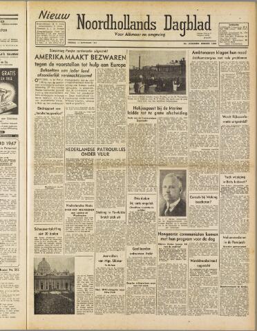 Nieuw Noordhollandsch Dagblad : voor Alkmaar en omgeving 1947-09-12