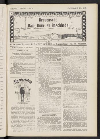 Bergensche bad-, duin- en boschbode 1918-07-27