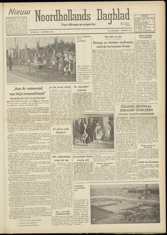 Nieuw Noordhollandsch Dagblad : voor Alkmaar en omgeving 1948-09-01