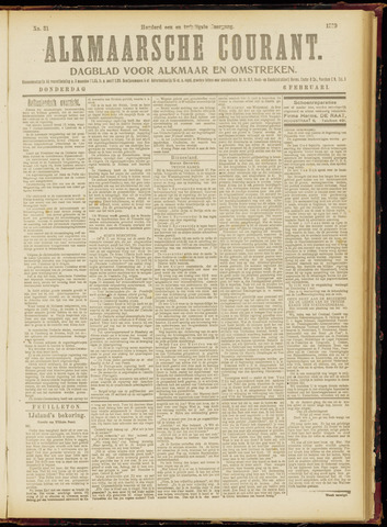 Alkmaarsche Courant 1919-02-06