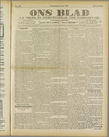 Ons Blad : katholiek nieuwsblad voor N-H 1920-06-10