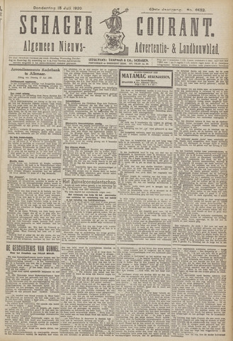 Schager Courant 1920-07-15