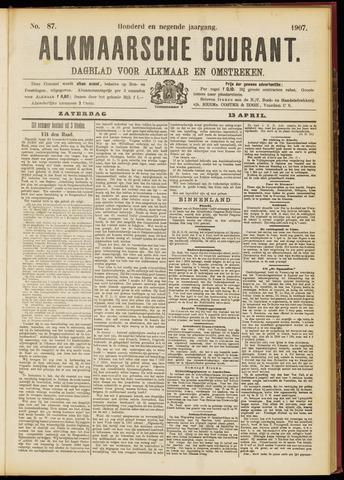 Alkmaarsche Courant 1907-04-13