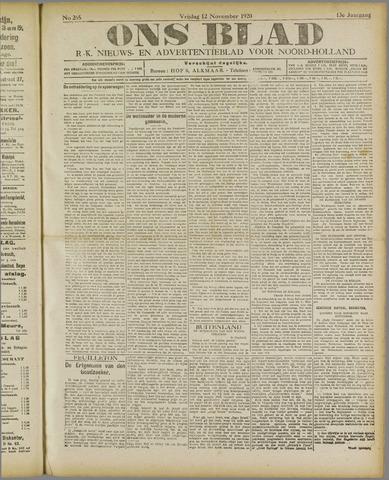 Ons Blad : katholiek nieuwsblad voor N-H 1920-11-12