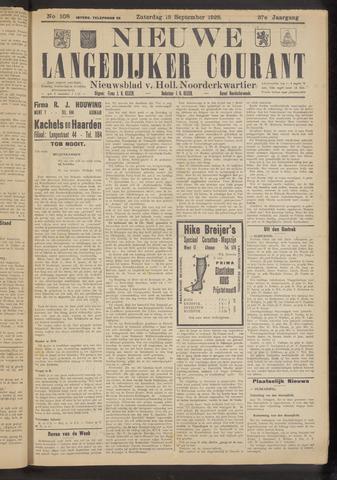Nieuwe Langedijker Courant 1928-09-15