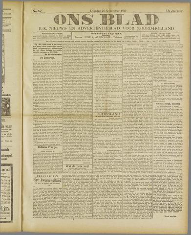 Ons Blad : katholiek nieuwsblad voor N-H 1920-09-28