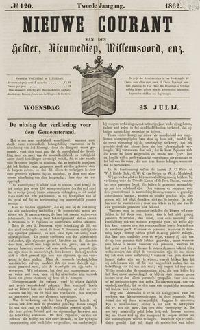 Nieuwe Courant van Den Helder 1862-07-23