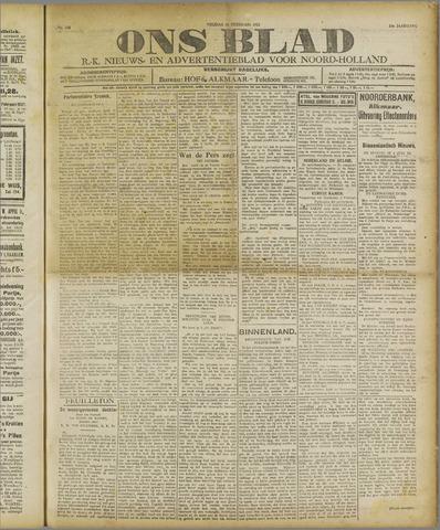 Ons Blad : katholiek nieuwsblad voor N-H 1921-02-18