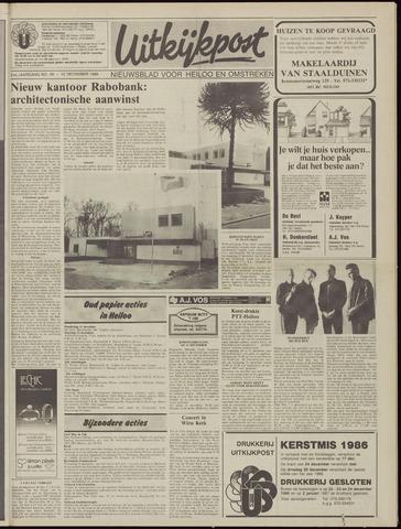 Uitkijkpost : nieuwsblad voor Heiloo e.o. 1986-12-10