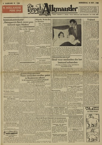 De Vrije Alkmaarder 1948-11-18