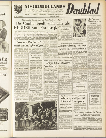 Noordhollands Dagblad : dagblad voor Alkmaar en omgeving 1958-05-16