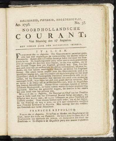 Noordhollandsche Courant 1798-08-27