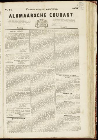 Alkmaarsche Courant 1865-04-02