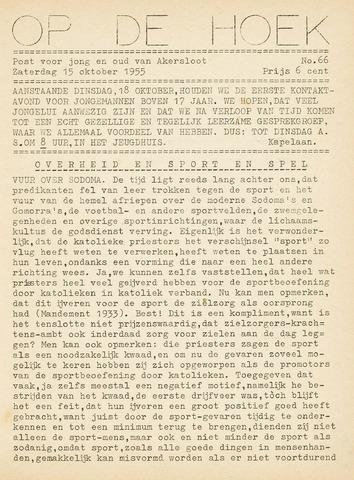 Op De Hoek, weekblad voor Akersloot 1955-10-15