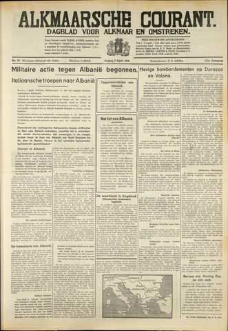 Alkmaarsche Courant 1939-04-07