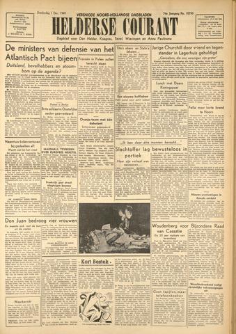 Heldersche Courant 1949-12-01