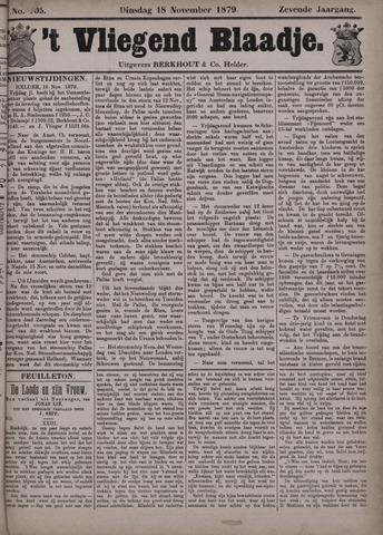 Vliegend blaadje : nieuws- en advertentiebode voor Den Helder 1879-11-18
