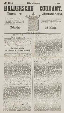Heldersche Courant 1871-03-25