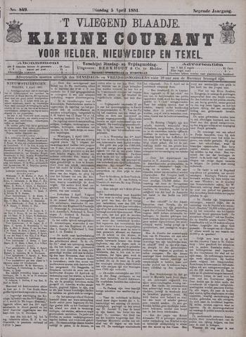Vliegend blaadje : nieuws- en advertentiebode voor Den Helder 1881-04-05