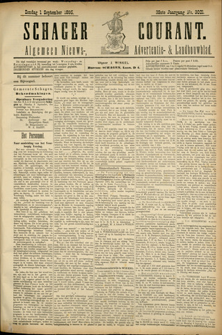 Schager Courant 1895-09-01