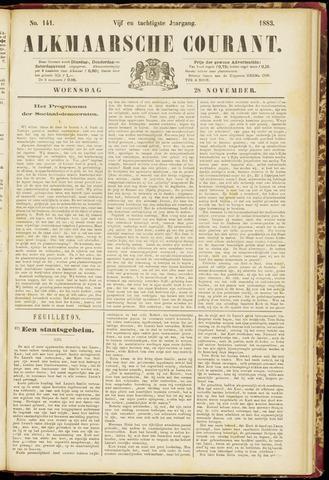 Alkmaarsche Courant 1883-11-28