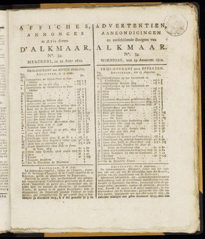 Alkmaarsche Courant 1812-08-19
