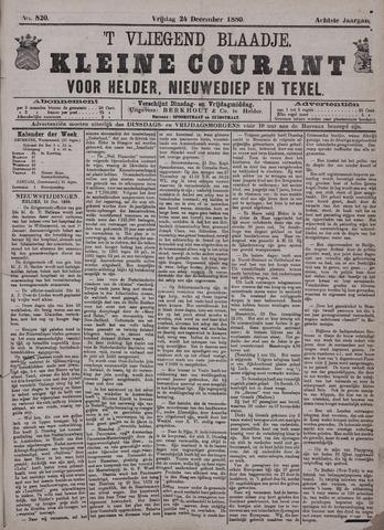 Vliegend blaadje : nieuws- en advertentiebode voor Den Helder 1880-12-24