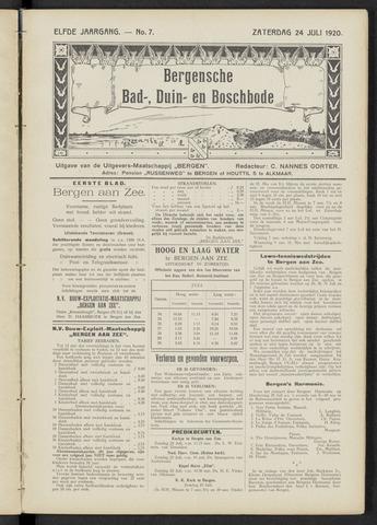 Bergensche bad-, duin- en boschbode 1920-07-24