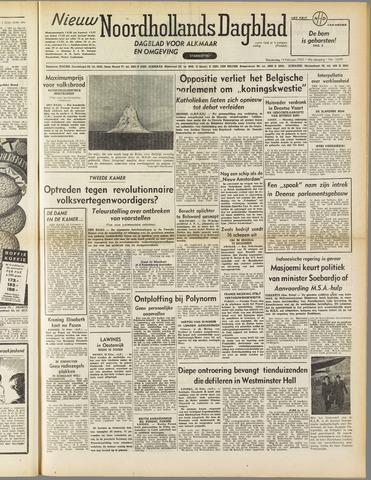 Nieuw Noordhollandsch Dagblad : voor Alkmaar en omgeving 1952-02-14