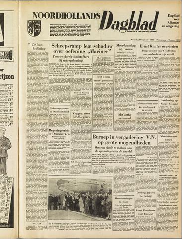 Noordhollands Dagblad : dagblad voor Alkmaar en omgeving 1953-09-30