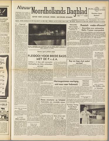 Nieuw Noordhollandsch Dagblad : voor Alkmaar en omgeving 1949-11-09