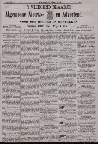 Vliegend blaadje : nieuws- en advertentiebode voor Den Helder 1875-03-31