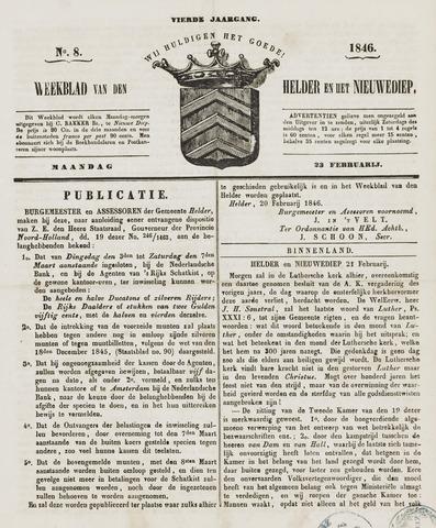 Weekblad van Den Helder en het Nieuwediep 1846-02-23