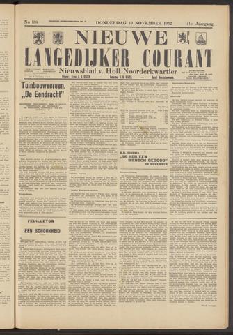Nieuwe Langedijker Courant 1932-11-10