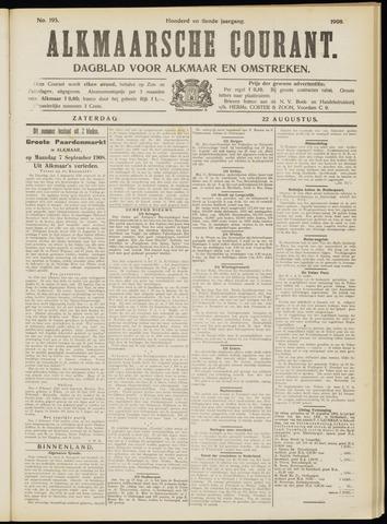 Alkmaarsche Courant 1908-08-22