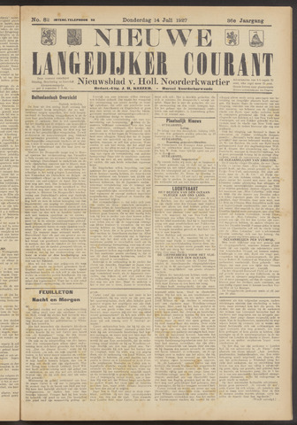 Nieuwe Langedijker Courant 1927-07-14