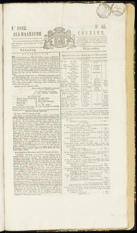Alkmaarsche Courant 1842-11-14