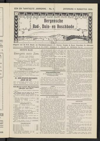 Bergensche bad-, duin- en boschbode 1930-08-09
