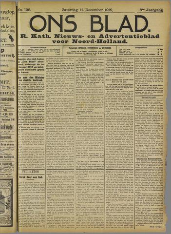 Ons Blad : katholiek nieuwsblad voor N-H 1912-12-14