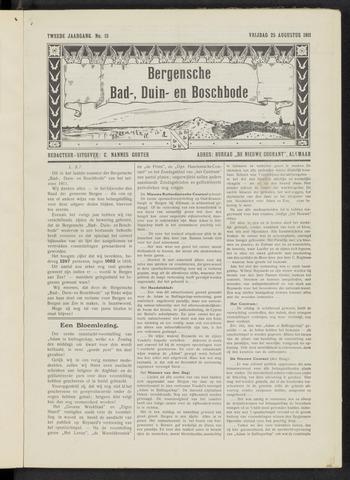 Bergensche bad-, duin- en boschbode 1911-08-25