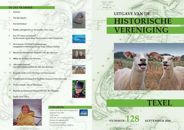 Uitgave Historische Vereniging Texel 2018-09-01