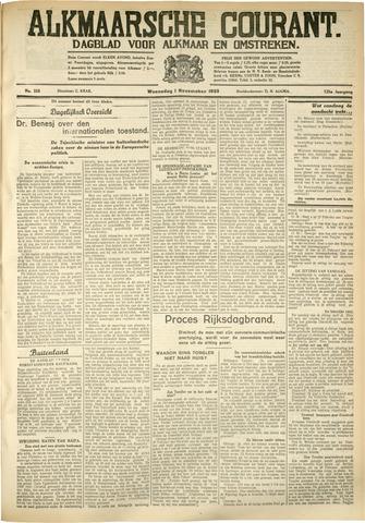 Alkmaarsche Courant 1933-11-01
